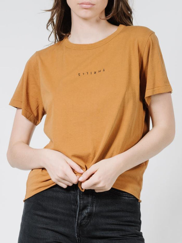 Minimal Thrills Relaxed Tee - Golden Brown
