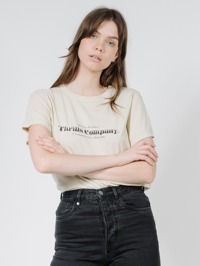 Silo Relaxed Tee - Thrift White