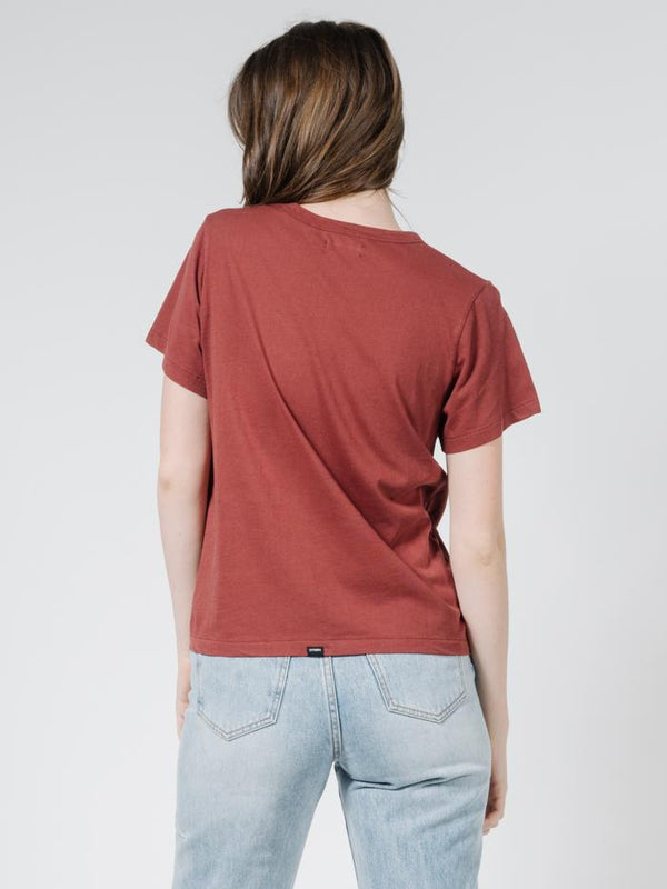 Silo Relaxed Tee - Burnt Red