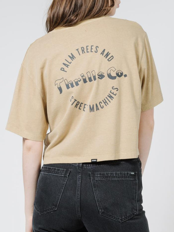Wellness Crop Merch Tee - Faded Gold