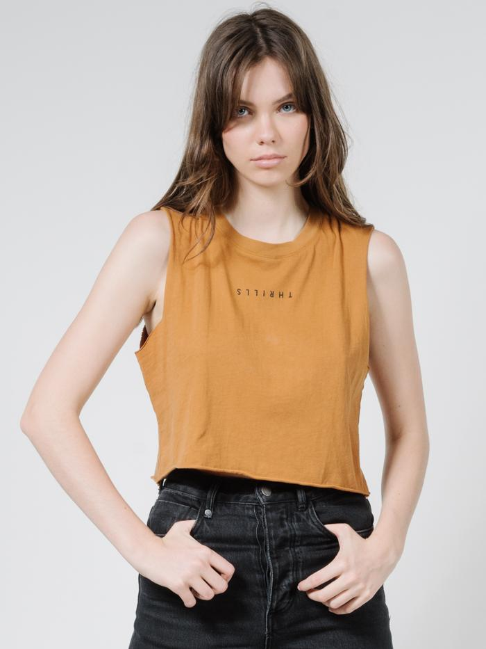 Minimal Thrills Crop Muscle - Golden Brown