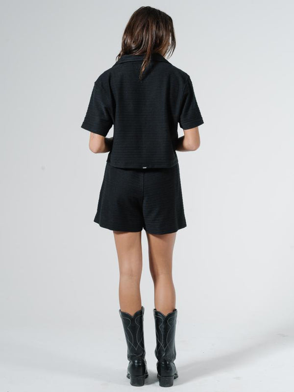 Terry Field Short - Black