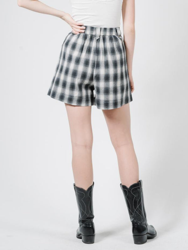 Angel Check Short - Steel Grey