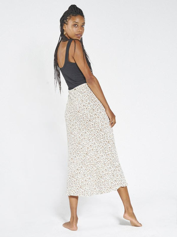 Acacia Bias Skirt - Thrift White