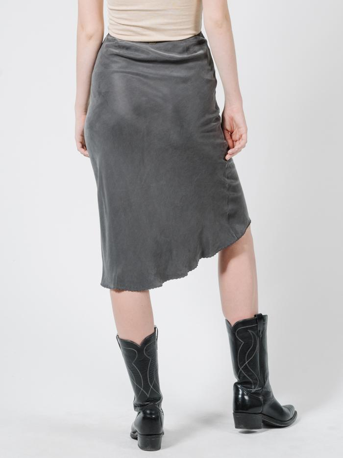 Manor Bias Skirt - Merch Black