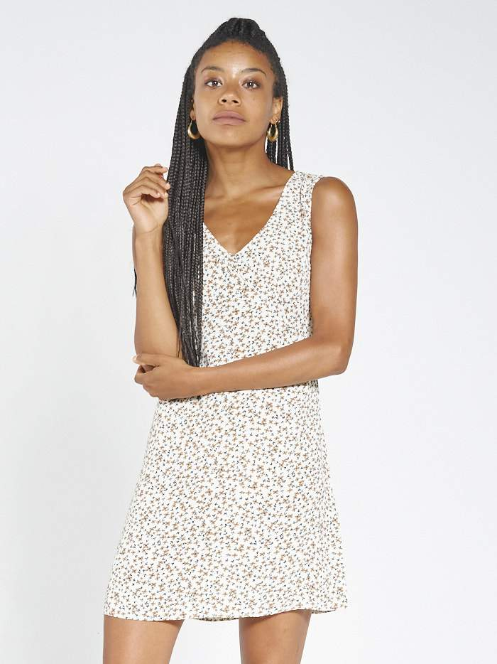 Acacia Sleeveless Dress - Thrift White