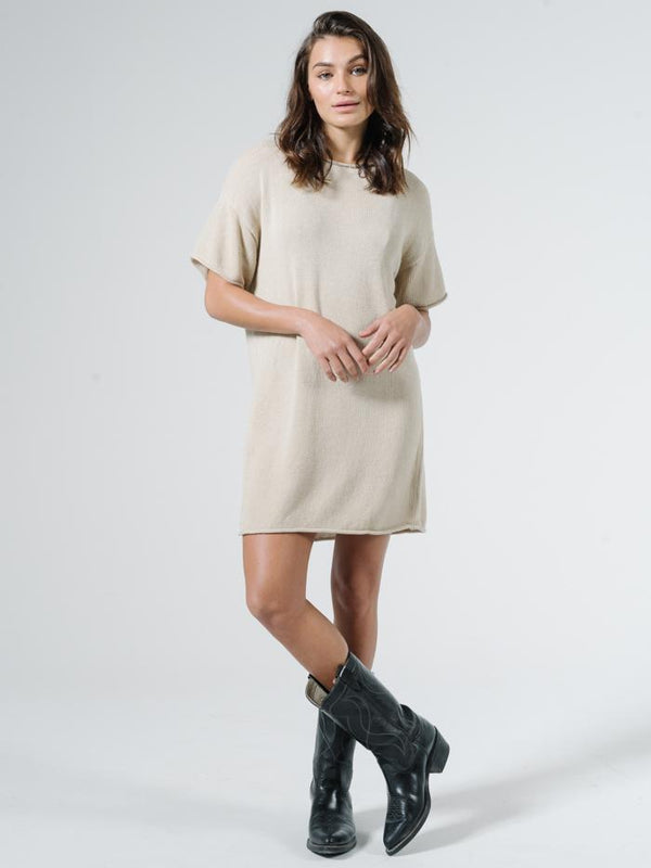 Fairbanks Knit Dress - Bone White
