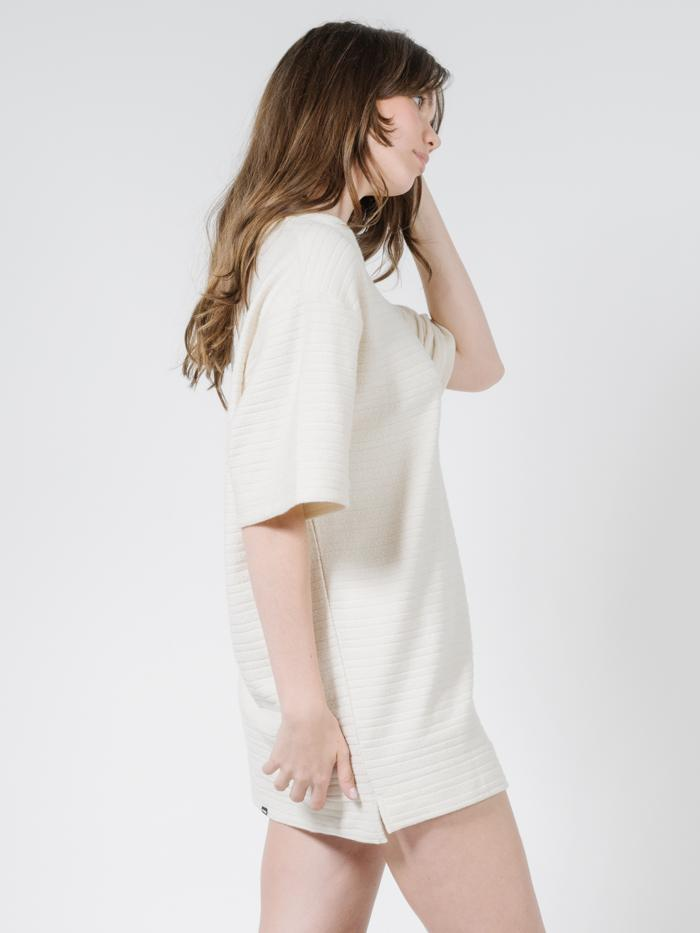 Terry Slouch Tee Dress - Unbleached