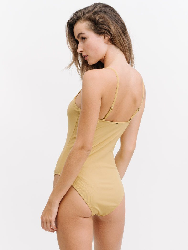 Banksia One Piece - Faded Yellow