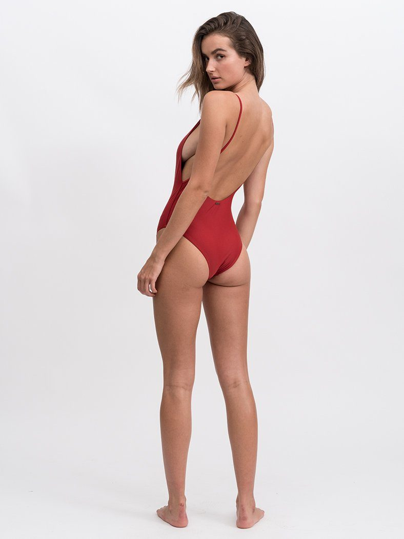 Classic Logo One Piece - Blood Red