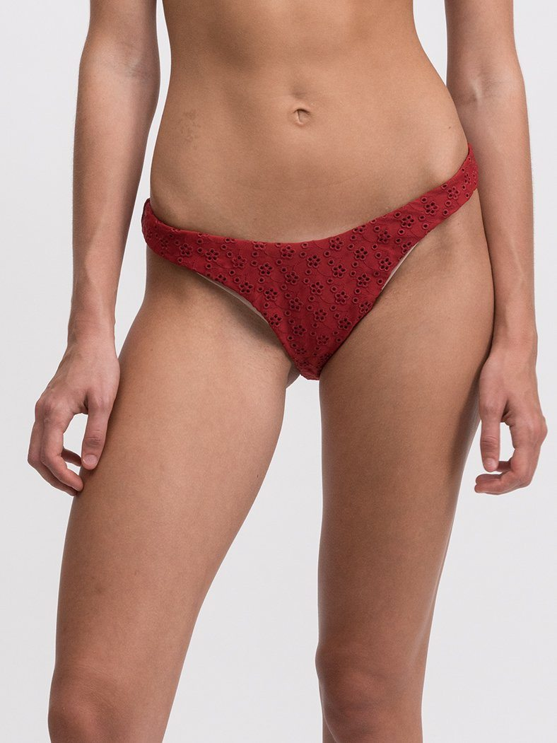 Stella Bikini Bottom - Blood Red