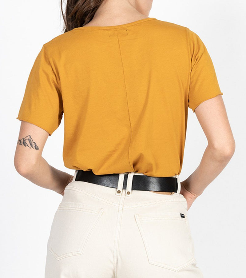 Minimal Thrills Loose Fit Tee - Sunlight Yellow