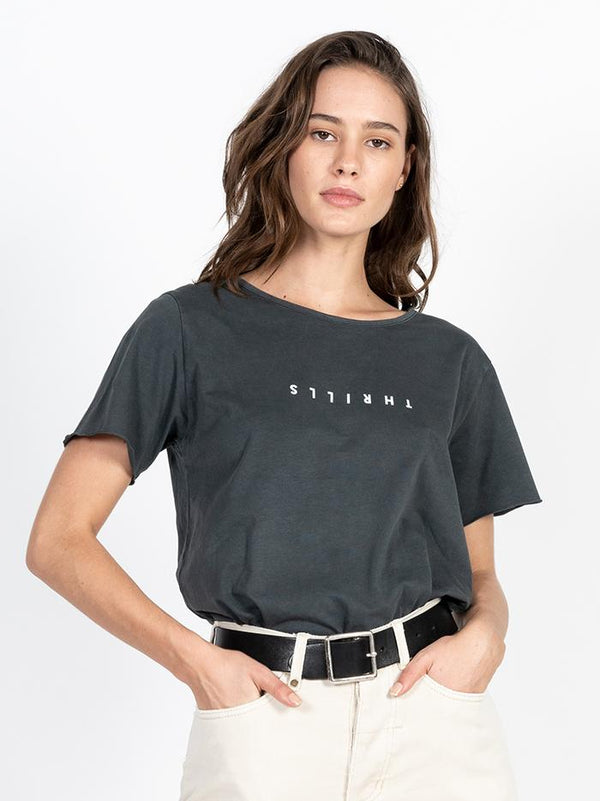 Minimal Thrills Loose Fit Tee - Merch Black