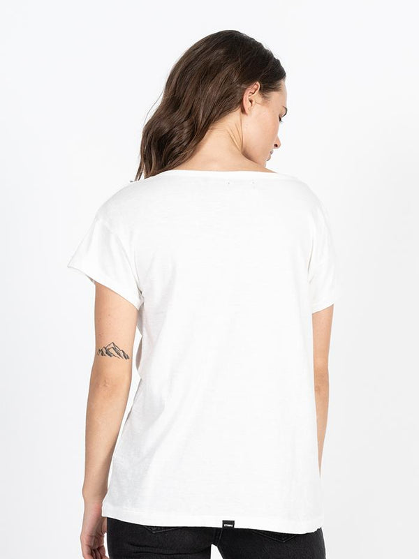 Dril Boyfriend Tee - Dirty White