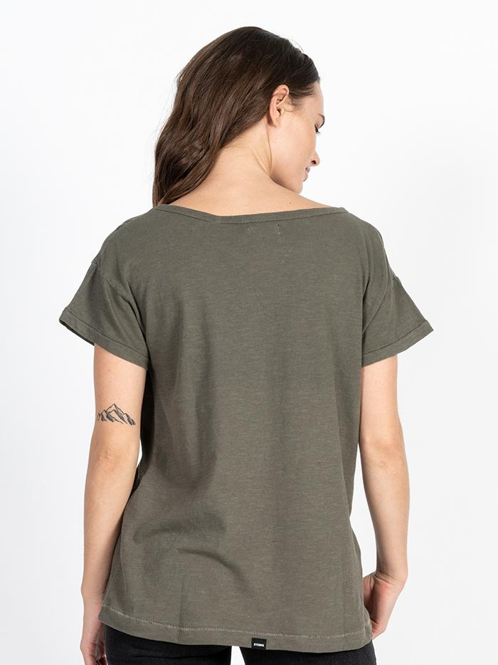 Dril Boyfriend Tee - Olive Night