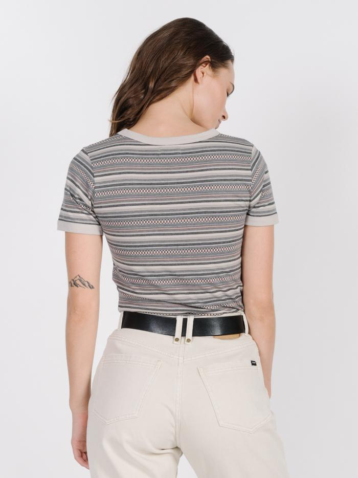 Needles Stripe Tee - Tan