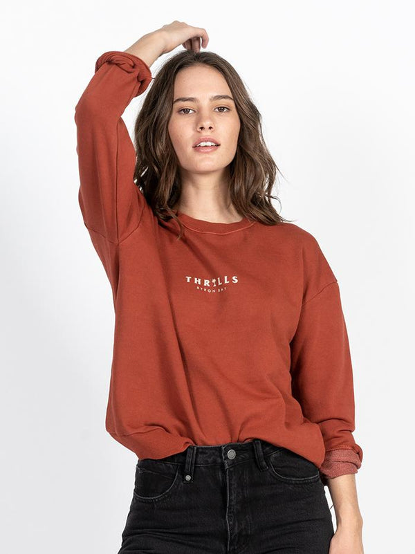 Palmed Thrills Crew - Rocker Red