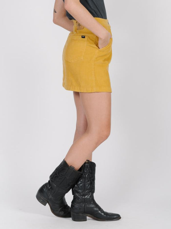 Tahli Cord Skirt - Sunlight Yellow