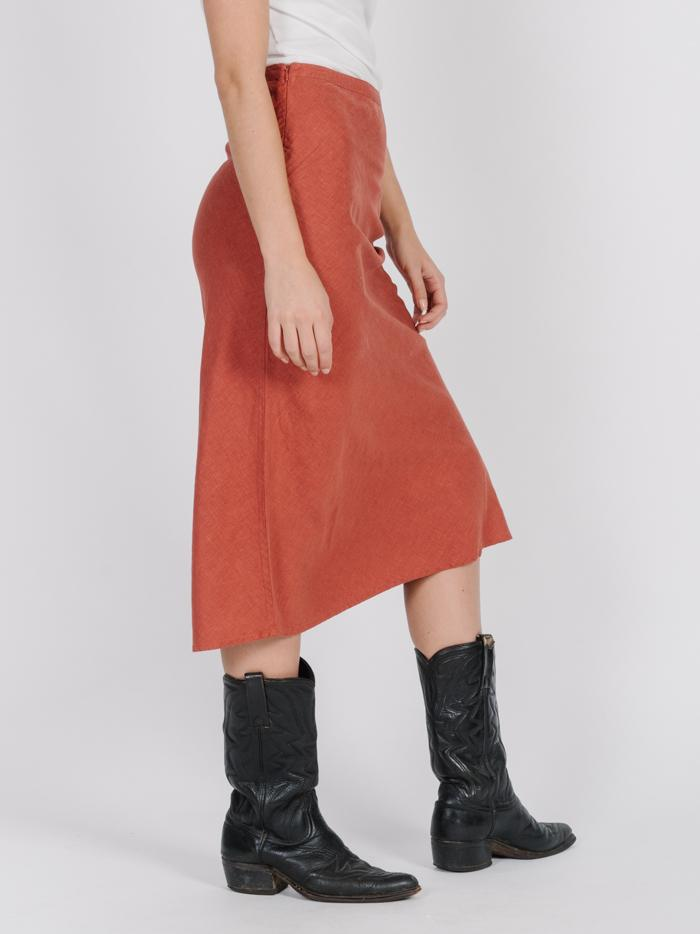 Primal Hemp Skirt - Rocker Red