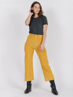 Belle Cord Pant - Sunlight Yellow