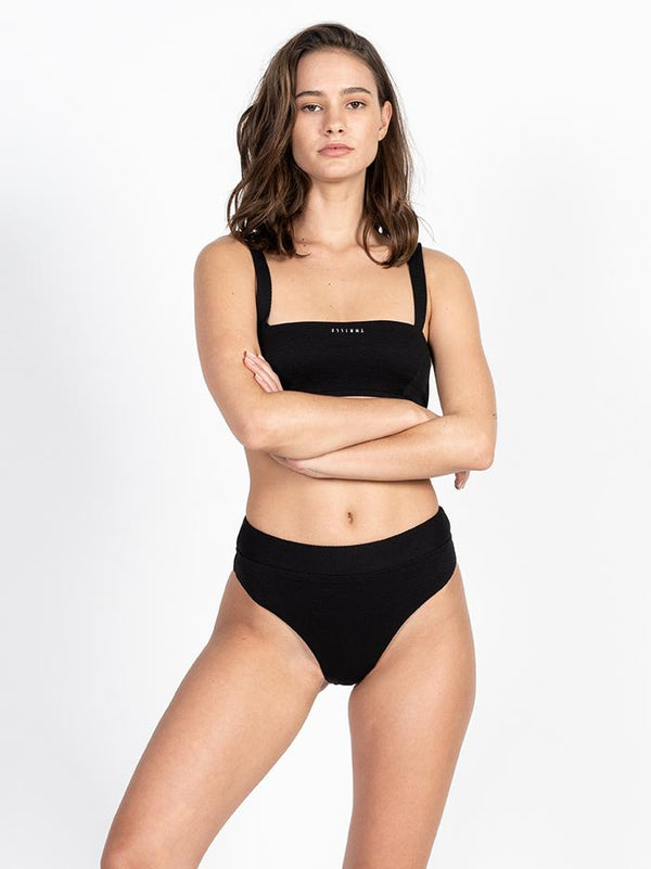Minimal Thrills Bikini Top - Merch Black