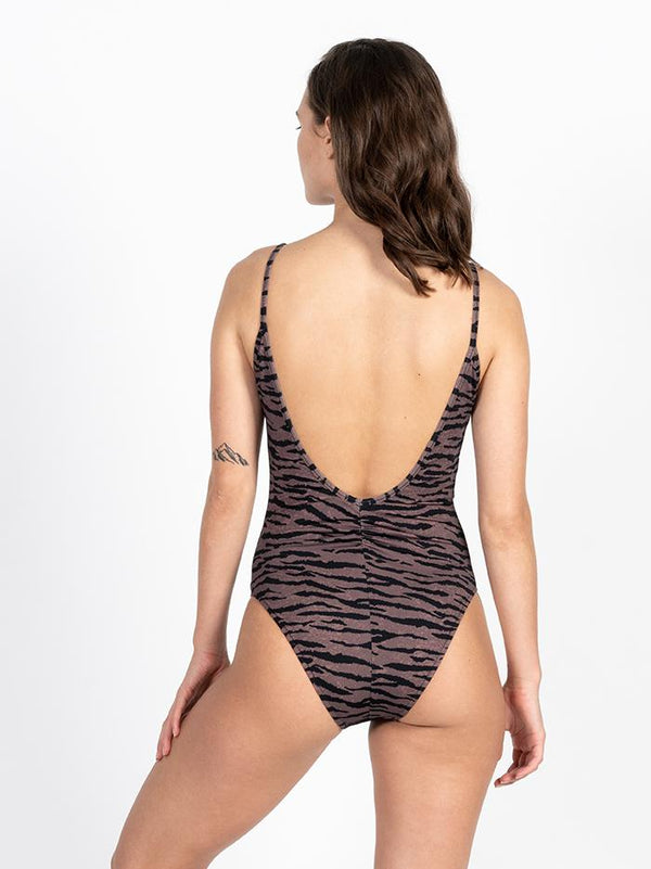 Concrete Jungle One Piece - Dark Brown
