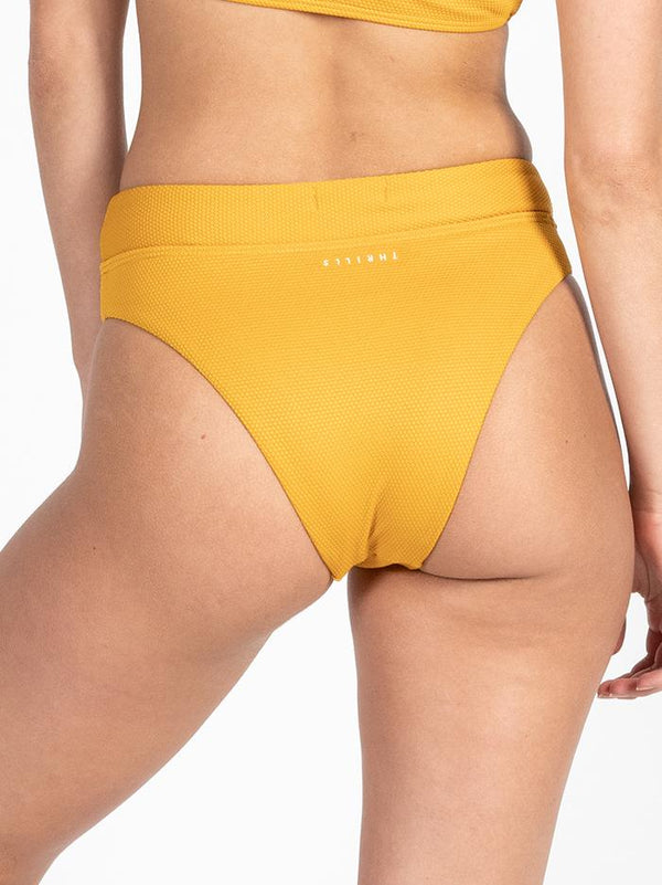 Minimal Thrills High Cut Bikini Bottom - Sunlight Yellow