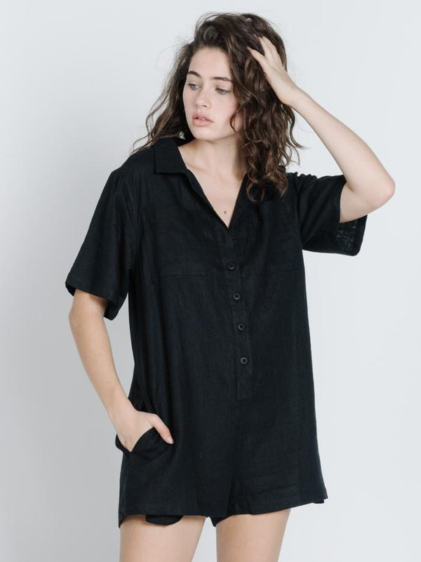 Safari Playsuit - Black