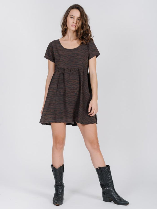 Delia Dress - Dark Brown