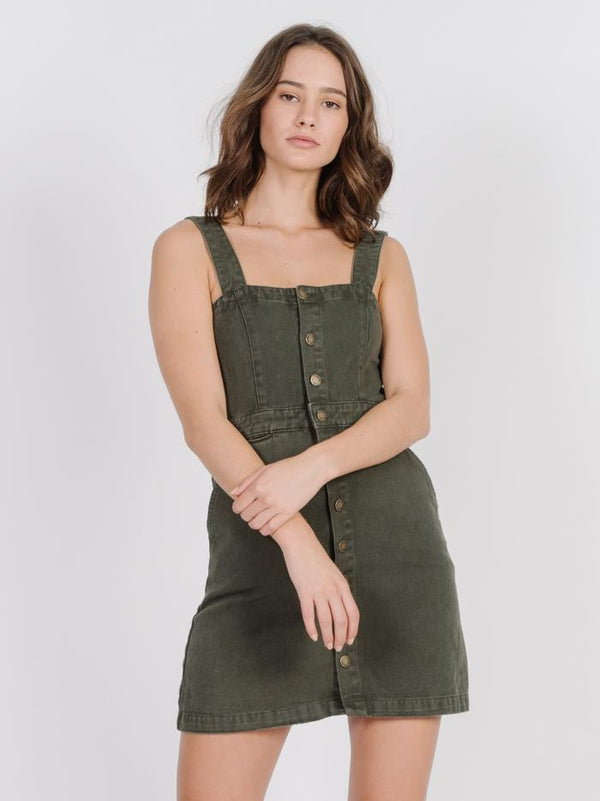 Catherine Dress - Army Green