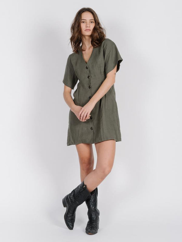 Chrissy Dress - Olive Night