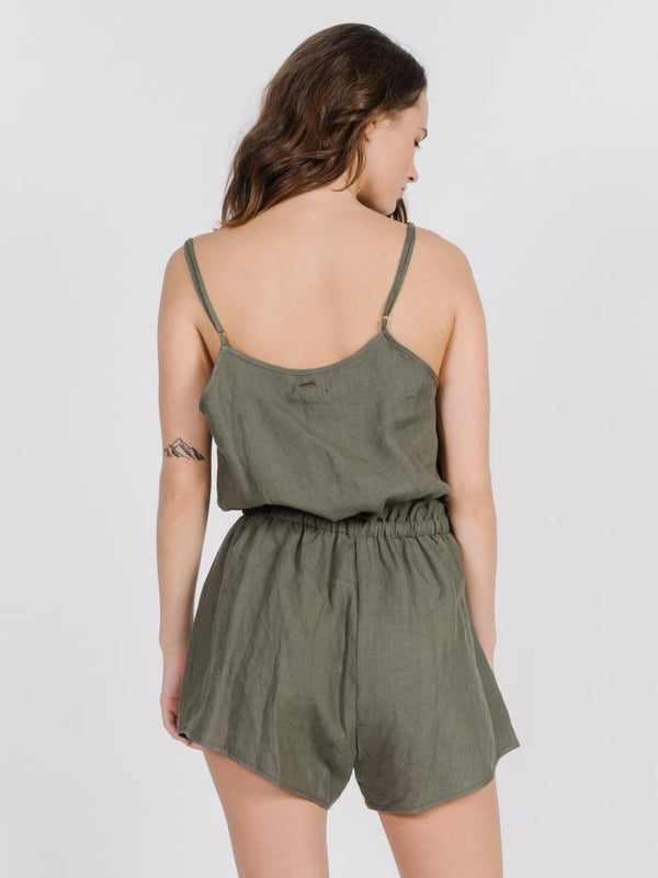 Meg Playsuit - Olive Night