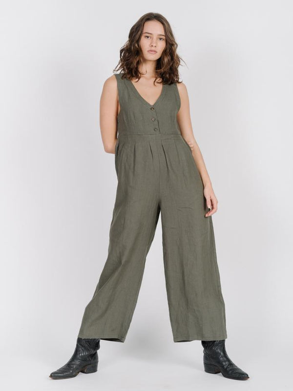 Kirby Jumpsuit - Olive Night