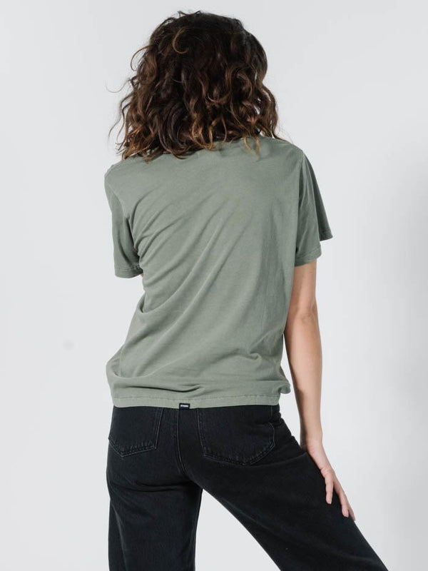 Company Pinline Relaxed Tee - Dune Green