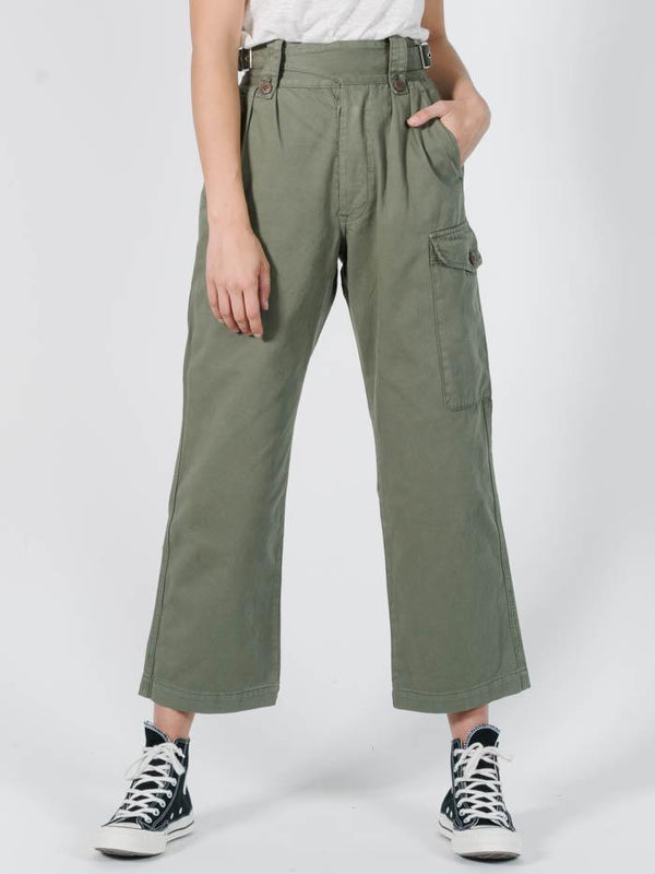 Cross Over Pant - Dune Green