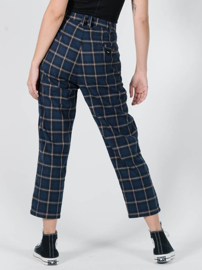 Camden Check Miller Pant - Navy Plaid