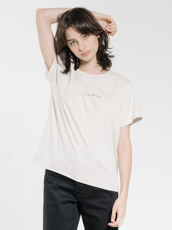 Minimal Thrills Relaxed Tee - Cement