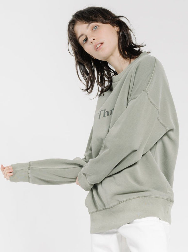 Enchantment Slouch Crew - Army Green