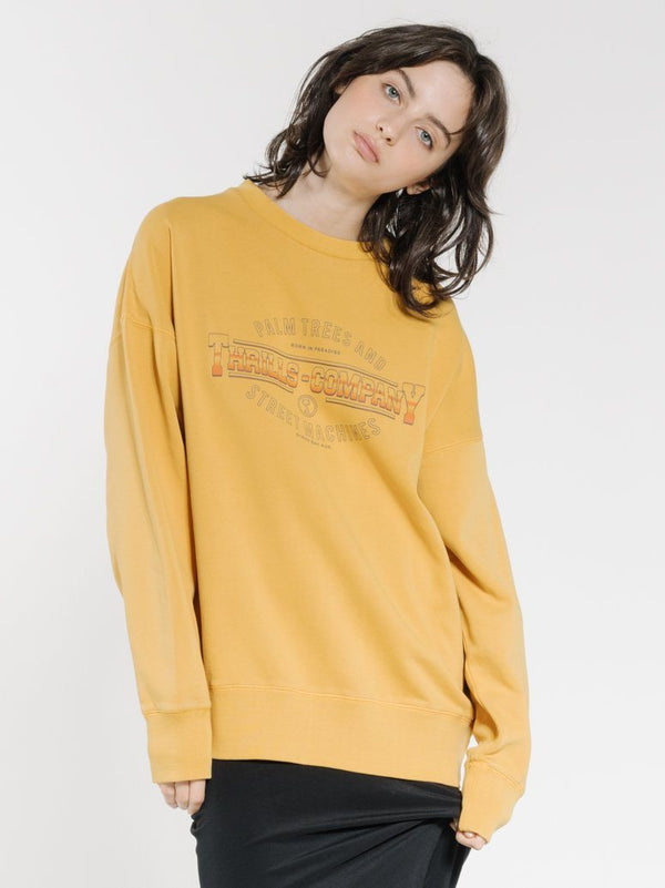Diversion Slouch Crew - Mineral Yellow