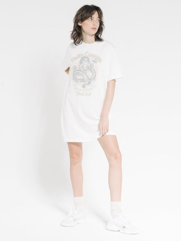 Revival Merch Fit Tee Dress - Dirty White