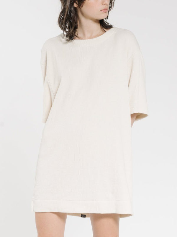 Hiatus Tee Dress - Unbleached
