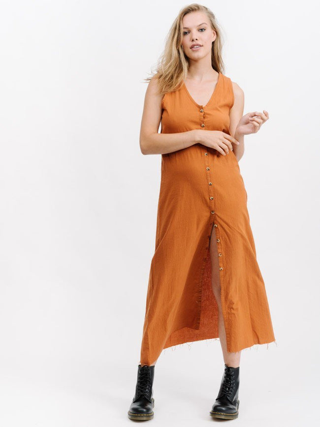 Laurel Maxi Dress- Leather