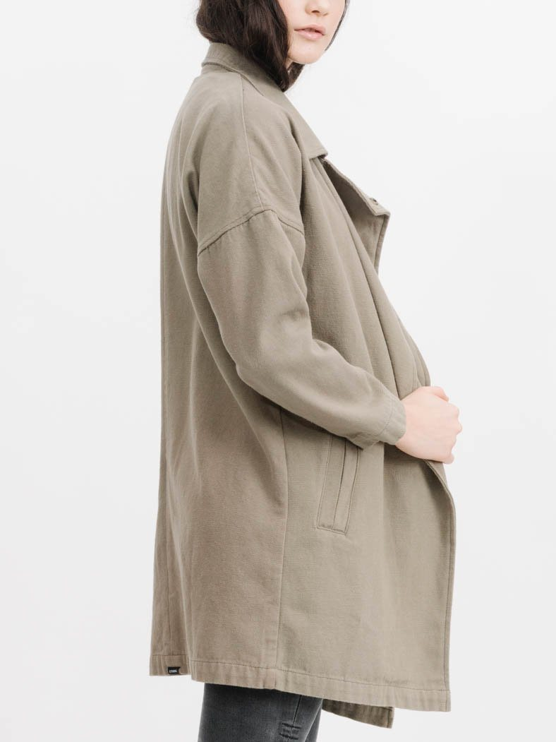 Force Trench Jacket - Army Green