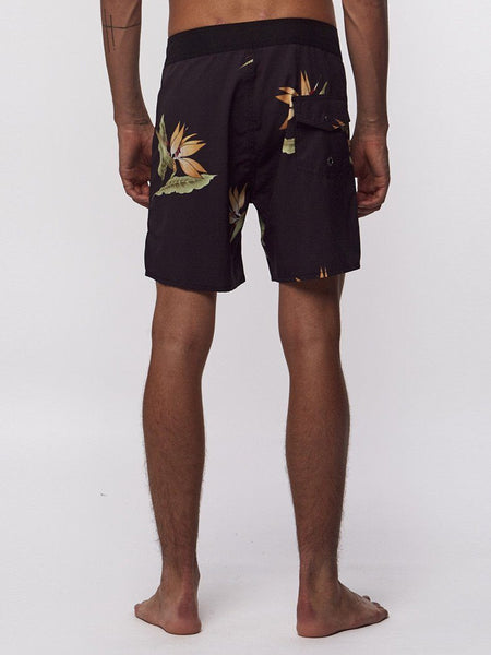 Bird Of Paradise Boardshort - Black Yardage