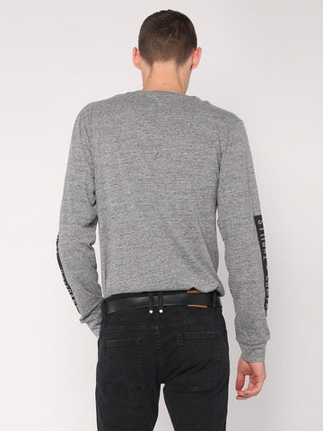Block Stripe Long Sleeve Tee - Grey Marle - THRILLS CO - 3