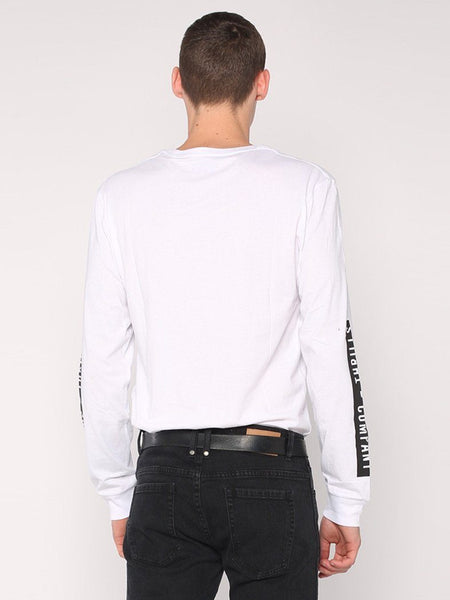 Block Stripe Long Sleeve Tee - White - THRILLS CO - 3