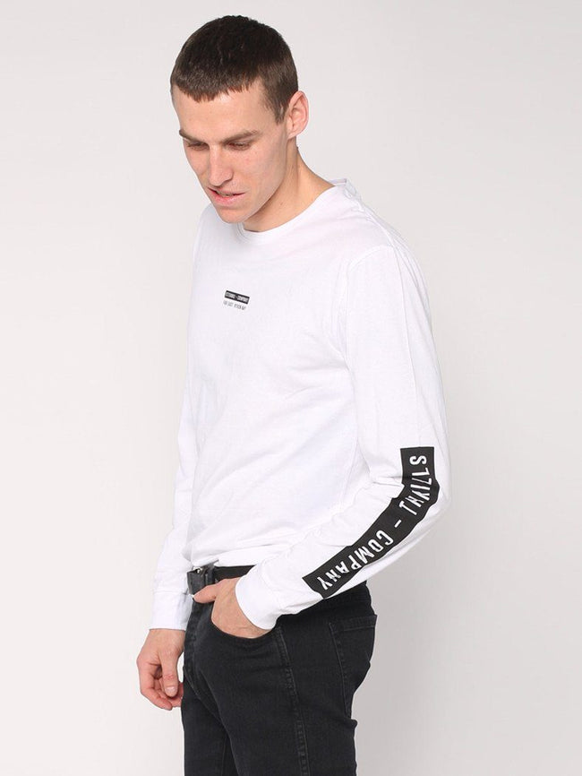 Block Stripe Long Sleeve Tee - White - THRILLS CO - 2