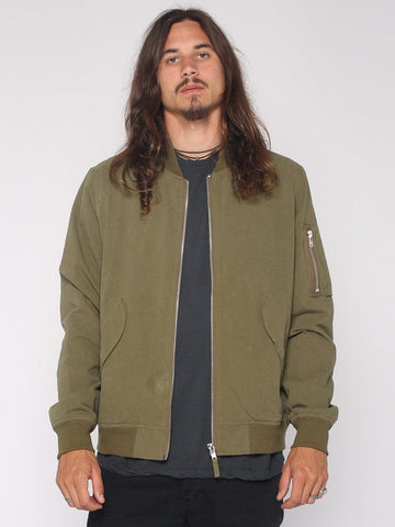 Bomber Jacket - Army Green - THRILLS CO - 1