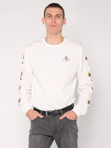 Burning Palm Long Sleeve Tee - Natural - THRILLS CO - 1