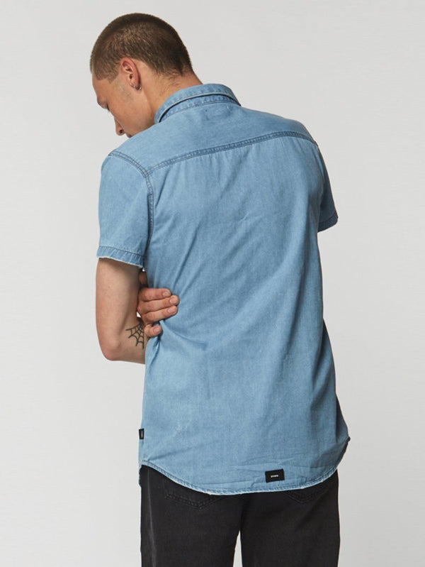 Canyon Short Sleeve Shirt - Reckless Blue